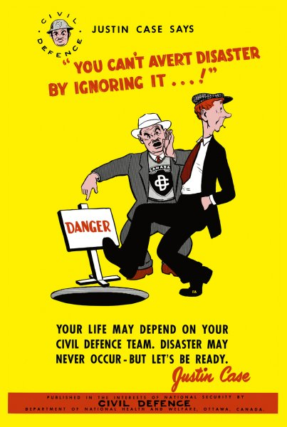 Canadian Civil Defence Poster You Can't Avert Disaster