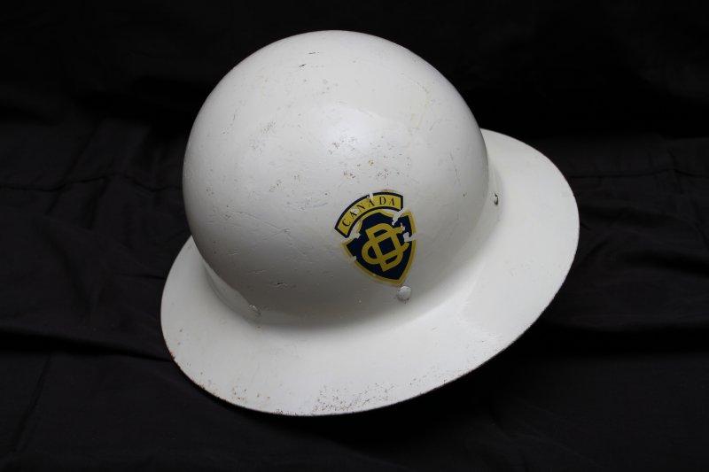 Canadian Civil Defence Warden Helmet