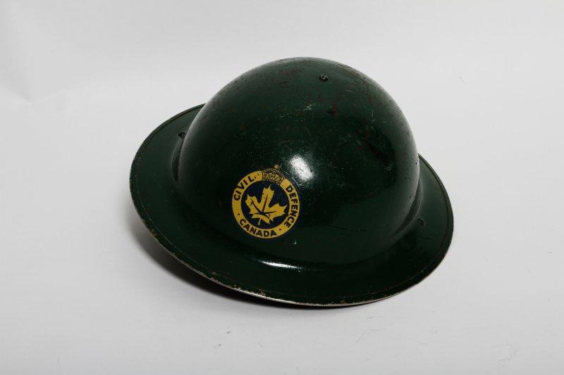 Canadian Civil Defence Green Helmet