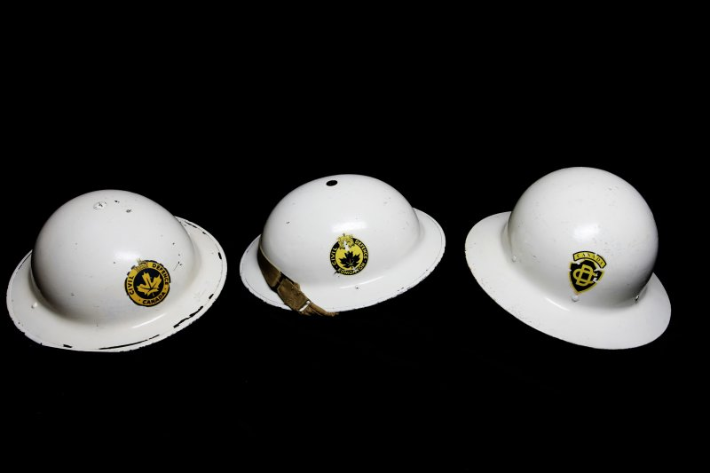 Canadian Civil Defence Helmets