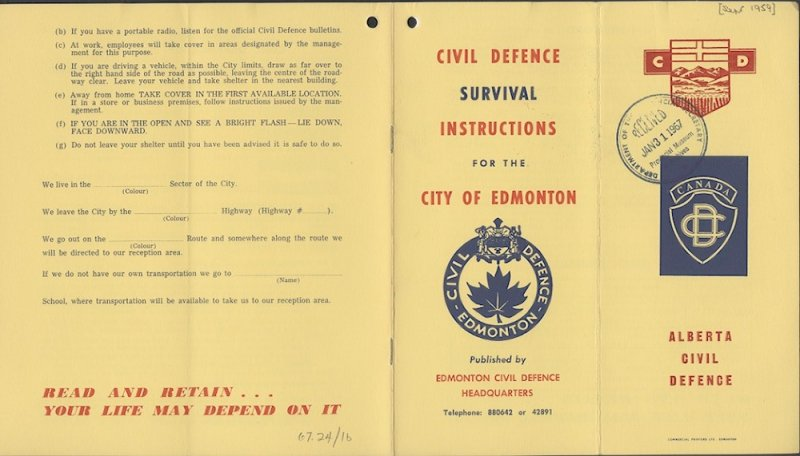 Edmonton Civil Defence Booklet