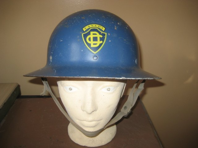 Canadian Civil Defence Blue Helmet