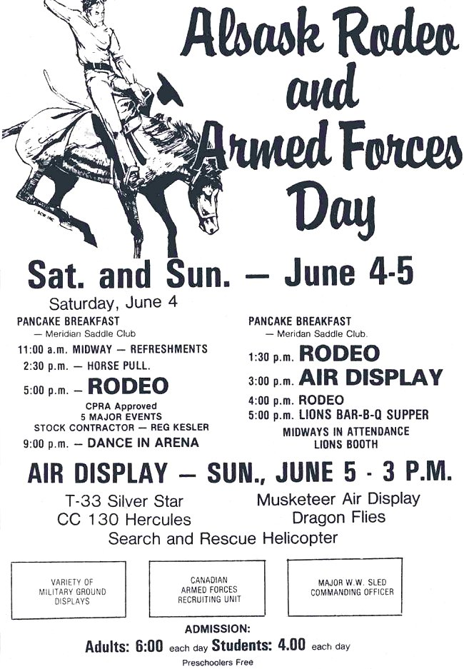Armed Forces Day & Rodeo clipping - 4-5 June 1983