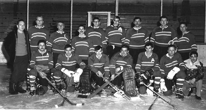 CFS Alsask hockey team - 1972