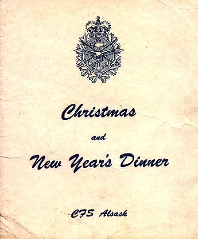 Christmas Dinner menu (outside page) - 25 December 1969