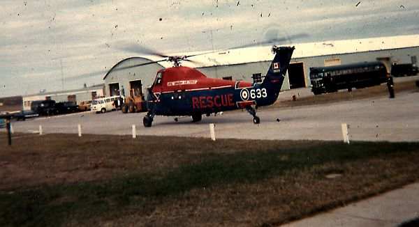 Rescue helicopter from Cold Lake - July 1969