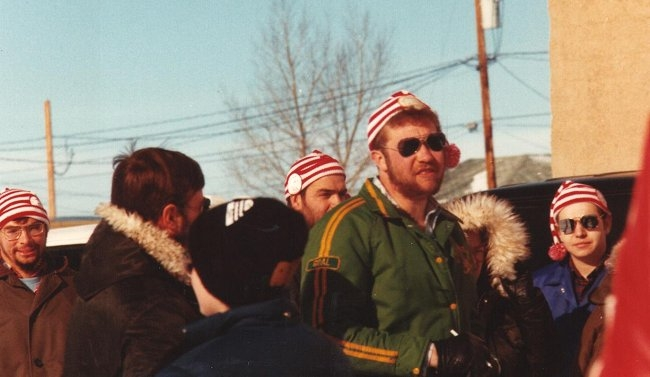 Winter Carnival (L-R) Pete Murdock, Dave Stiller, Moose Lindal - February 1980