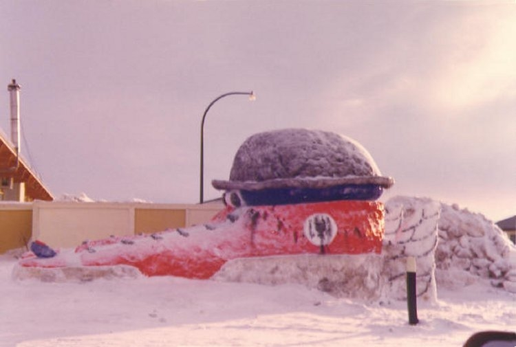 Winter Carnival snow sculpture - February 1975