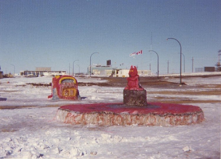 Winter Carnival snow sculpture - February 1975b