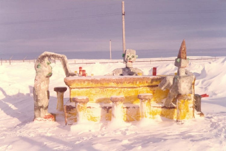 Winter Carnival snow sculpture - February 1975c