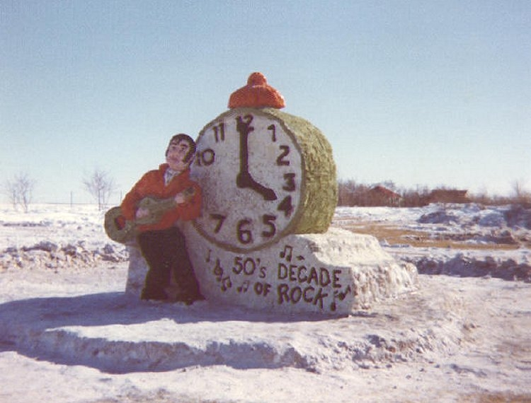 Winter Carnival snow sculpture - February 1976b