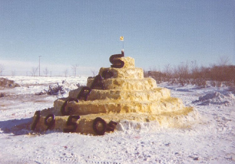 Winter Carnival snow sculpture - February 1976c