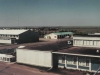 Taken from the roof of the Power Plant overlooking the Junior Ranks Club, Recreation Centre (left) and Canex Building (right) - May 1987