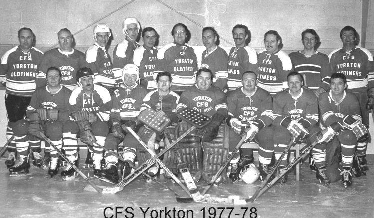 CFS Yorkton Oldtimers Hockey Team - March 1978