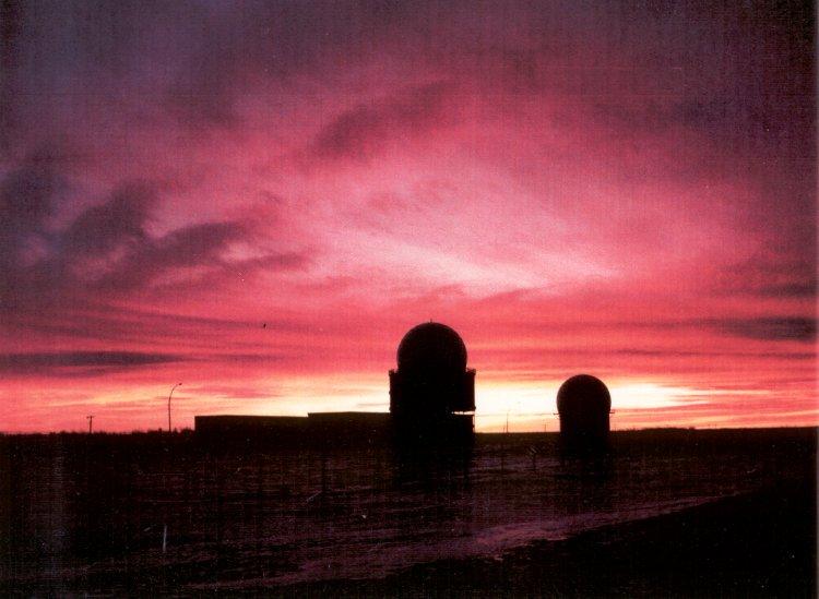Sunset at CFS Yorkton - 13 January 1986