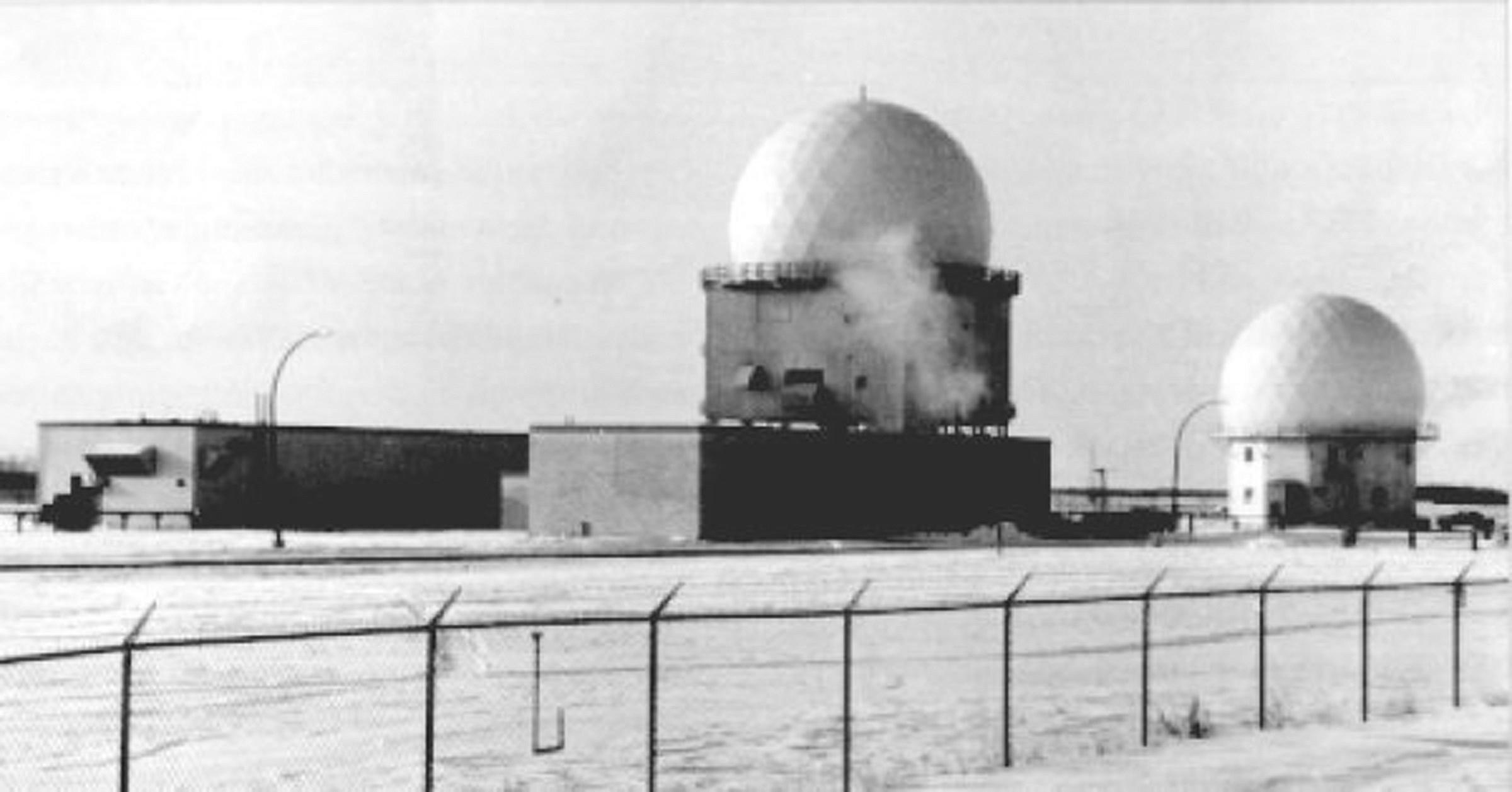 Yorkton Sask. Radar towers in Operations site - November 1964