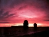 Sunset at CFS Yorkton - 13 January 1986