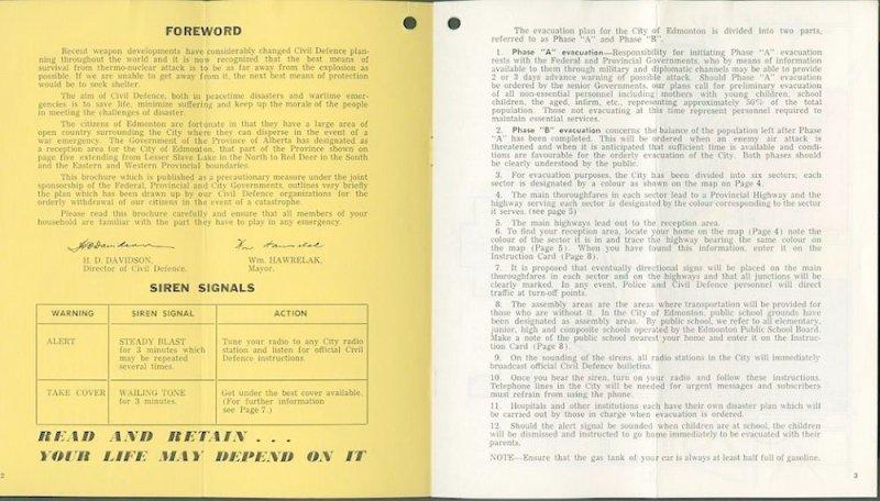 Edmonton Civil Defence Booklet 2