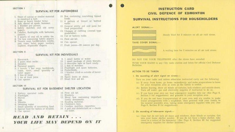 Edmonton Civil Defence Booklet 4