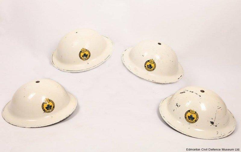 Edmonton Civil Defence Helmets