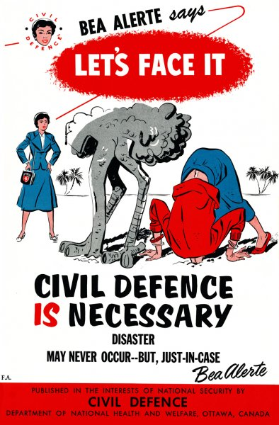 Canadian Civil Defence Poster Let's Face IT