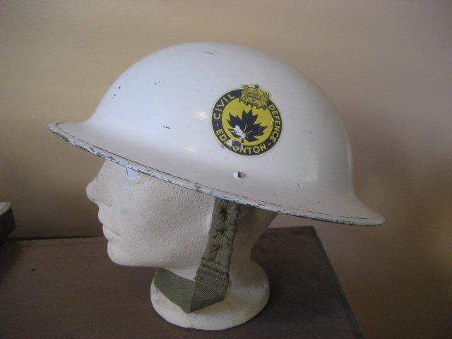 Edmonton Civil Defence Helmet