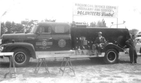 civil-defence fire truck