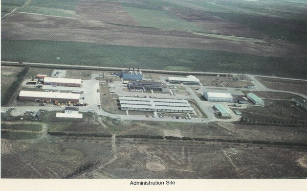 Aerial view of Administration site - 1982