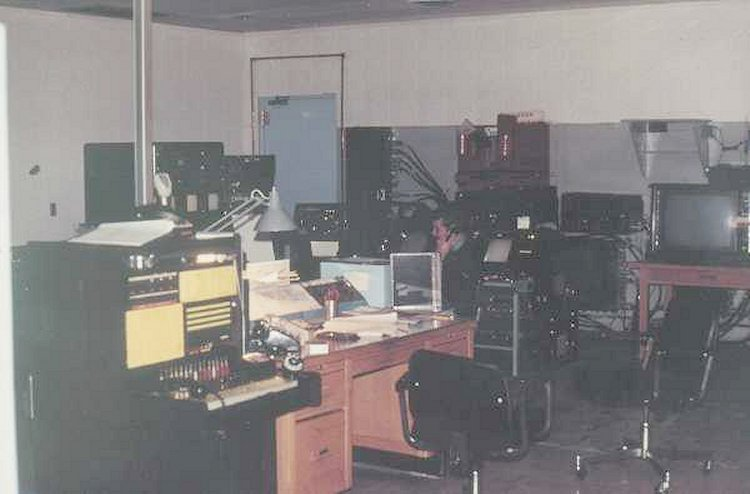Interior photo of DMCC Operations Room - 1985