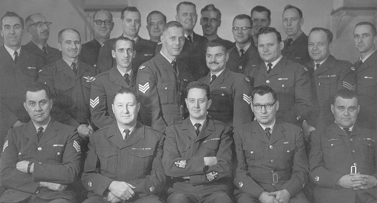Larger image of the Members of the Sgts Mess photo - October 1968