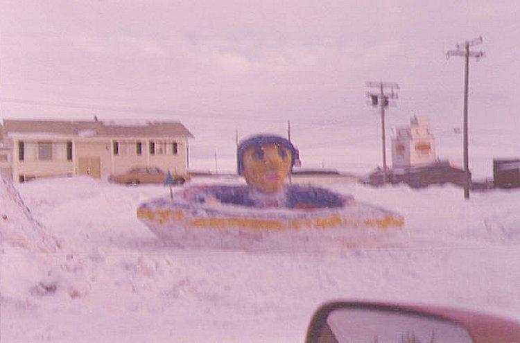 Winter Carnival snow sculpture - February 1974b