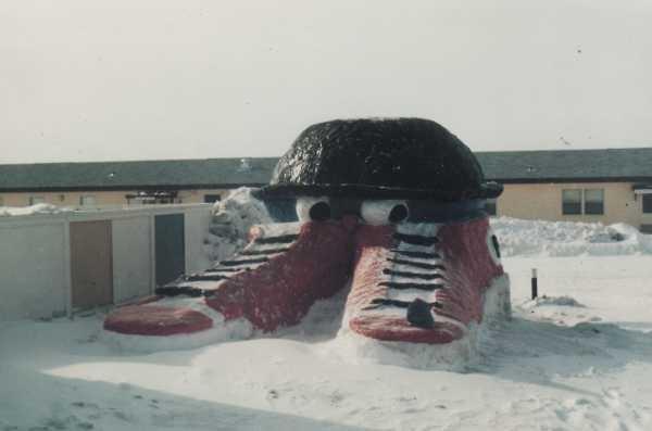 Winter Carnival snow sculpture - Winter 1985