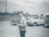 John Hetherington (Radar Tech) in one of the parking lots on the station - June 1965