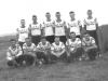 RCAF Station Yorkton baseball team. Back row (L-R) Gerry McGarry, R Willard, J Craig, Lorne Alguire, C Todd, B Kyte. Front row (L-R) R Zuzak, R Vandewater, B Hardey, E Crwaley, D Nichols and L Tocher - September 1964